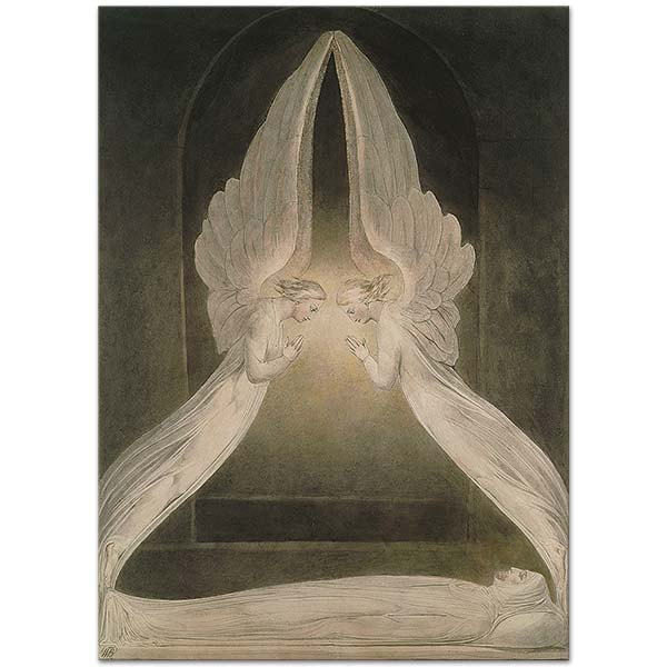 William Blake Christ in the Sepulchre Guarded by Angels Art Print